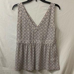 Ann Taylor Loft sleeveless blouse size 0